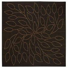 Outdoor Rug Square Square 7 And Larger Black Outdoor Rugs Rugs The Home Depot
