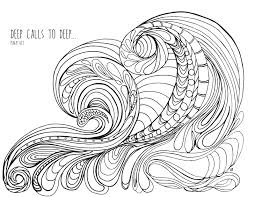 coloring pages decorative waves coloring pages water ocean waves