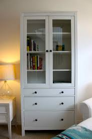 ikea bookcase with doors cheap ikea hemnes bookcase with simple amerock and side table plus