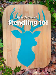 how to stencil a stag plaque running with sisters