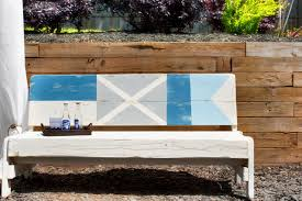 nautical flag how to paint nautical flags on a bench how tos diy