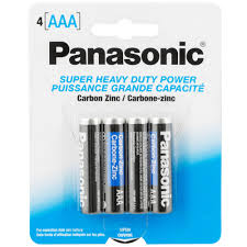 panasonic aaa super heavy duty battery 4 pack