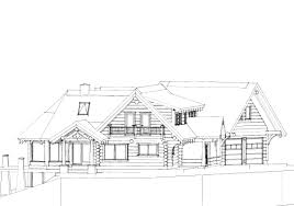 log cabin drawing nice lake side home building plans 49790