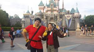 my boyfriend and i went to mickey u0027s halloween party as gaston and