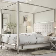 how to make upholstered canopy bed modern wall sconces and bed ideas white upholstered canopy bed