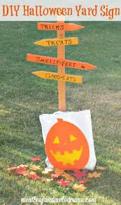 outside halloween crafts diy halloween yard sign meatloaf and melodrama