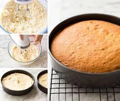how to make a cake vanilla sponge cake recipetin eats