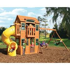 Sears Backyard Playsets Cedar Summit Cedarvalley Lodge Premium Play Set 1399 Play