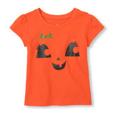 halloween t shirts for girls short sleeve halloween face graphic tee the children u0027s place