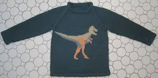 knitting pattern dinosaur jumper finished project the dinosaur sweater grin and frog it