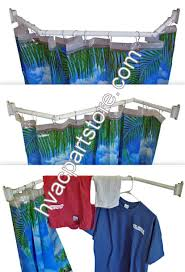 extend a shower collapsible shower curtain rod