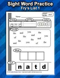 sight word practice worksheets list 1 kaylee u0027s education studio