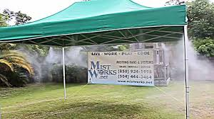 Homemade Outdoor Misting System by Rent Misting Fans Louisiana Florida Alabama Mississippi And