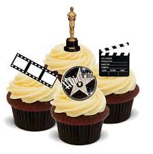 hollywood style mix film camera action 12 standups edible cake
