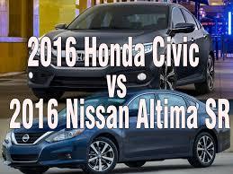 nissan altima windshield size 2016 honda civic sedan sporty vs 2016 nissan altima sr mid size