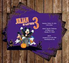 Birthday Halloween Party Invitations by Novel Concept Designs Disney Mickey Mouse Spooky Halloween