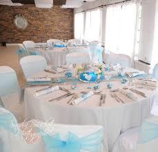 mariage bleu et blanc décoration de salle et de table fée la fête