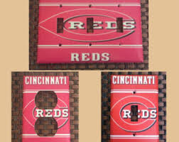 cincinnati reds home decor cincinnati light etsy
