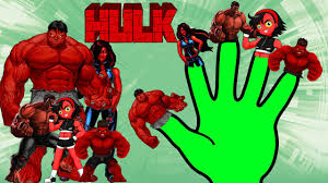 hulk cartoon finger family songs red hulk cartoon animation