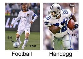 Football Player Meme - football vs handegg handegg know your meme