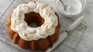 sweet potato bundt cake with toasted marshmallow topper recipe