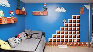 mario bedroom dad creates the ultimate mario bedroom for his teenage daughter