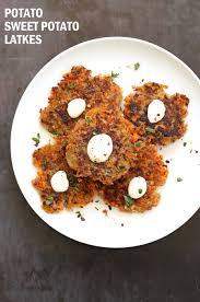 latke mix potato sweet potato latkes fritters vegan richa