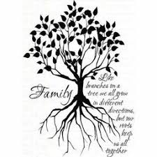 tree silhouette small family tree designs