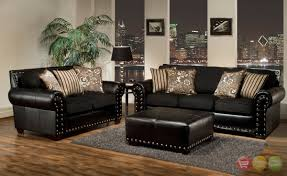 Leather Livingroom Sets Living Room Wonderful Black Living Room Furniture Sets With