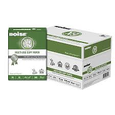 paper ream box boise x 9 multi use copy paper letter paper size 20 lb bright