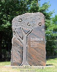 granite monuments tree headstone designs custom gravestone west memorials