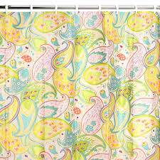 Yellow Paisley Shower Curtain by Creative Bath Cool Paisley Vinyl Shower Curtain