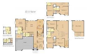 4 bedroom floor plans with bonus room 3213 sqft home 4 bed salmon creek wa pacific lifestyle homes