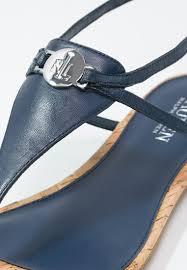 lauren ralph lauren anita t bar sandals sailing navy women