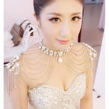 chain necklace dress images Fashion crystal beaded diamond tassels women 39 s ladies female jpg