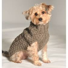 cable knit sweater grey such a stylish pooch
