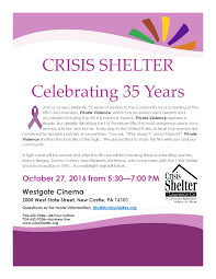 35 years event flyer crisis shelter of lawrence county