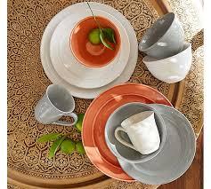cambria 16 dinnerware set gray pottery barn