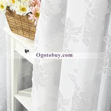 White Gauze Polyester Decorated Bedroom Sheer Curtains Buy White