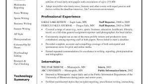 standard resume exles journalism resume sles impressive objective exles broadcast