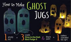Milk Jug Crafts Halloween by How To Make Glowing Ghost Jugs