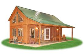 getaway cabins pine creek structures custom chalet cabin with porch sliding doors loft and finished interior