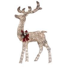 lighted reindeer breathtaking lighted grapevine reindeer christmas decoration