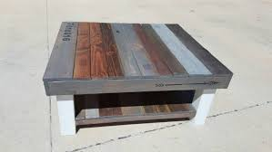 Lower Coffee Table by Reclaimed Wood Coffee Table With Multi Colored Stain And Lower
