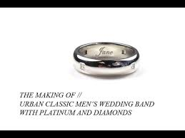 Mens Platinum Wedding Rings by Mens Platinum Wedding Band With Diamonds Custom Mens Wedding