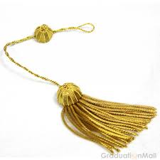 gold tassel graduation doctoral tam with gold bullion tassel 6 sides