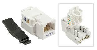 pack of 10 keystone jack tooless rj 45 cat 6 white rj45 cat6