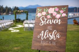 wedding signs diy diy wooden wedding sign west coast lobster