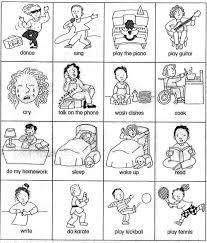 sheet for teaching basic verbs u0026 verb card games beginner esl efl
