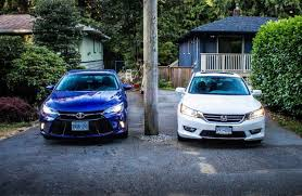 comparison test 2015 toyota camry v6 vs 2015 honda accord v6